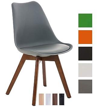 I Dossier Salle en Similicuir I en Bois en Chaise Borneo dAssise Chaise Assise Manger 47cm CLP Plastique Hauteur de Design Scandinave I Pieds à v80mOyPnwN