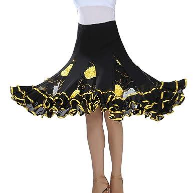 Tookang Falda de Danza para Mujer Traje de Baile Flamenco ...