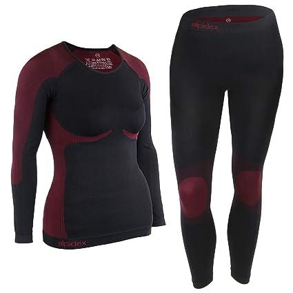 714e3fecd0adbd ALPIDEX Damen Funktionswäsche Thermounterwäsche Skiunterwäsche -  atmungsaktiv, wärmend und schnell trocknend