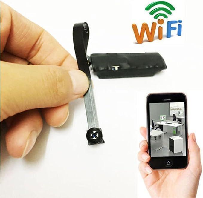 Amyove Mini cam/éra WiFi Mini Cam/éra Espion sans Fil WiFi IP Pinhole DIY Cam/éra Vid/éo Num/érique Mini Micro DVR