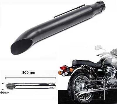 Universal Motorcycle Exhaust Pipe Silencer Muffler For Harley Cafe Racer Honda