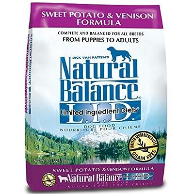 Natural Balance Dry Dog Food, Limited Ingredient Diets Sweet Potato and Venison Formula, 4.5 lb