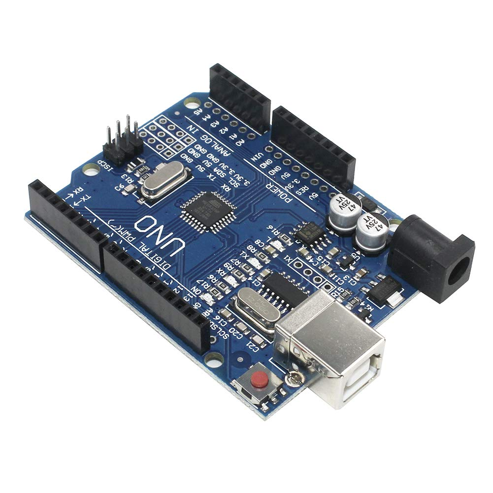 KeeYees UNO R3 ATmega328P CH340 Microcontroller Development Board Compatible Arduino UNO R3 IDE with USB Cable and 2.54mm Straight Pin Header Kit