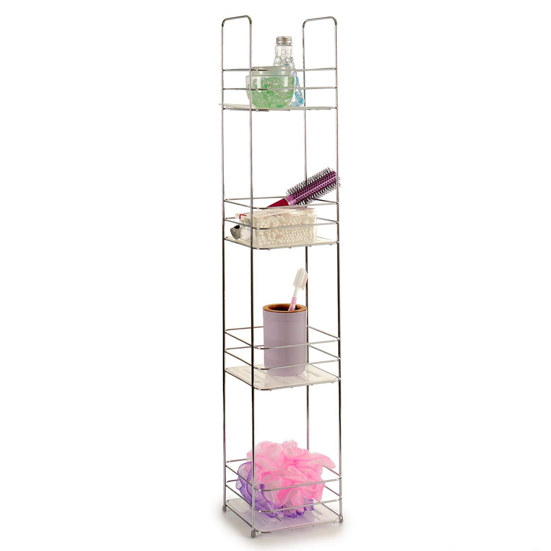 TU TENDENCIA /ÚNICA Estanter/ía de Metal Cuadrada con Estantes Ideal para tener tus accesorios de forma organizada y ahorrar espacio 3 estantes