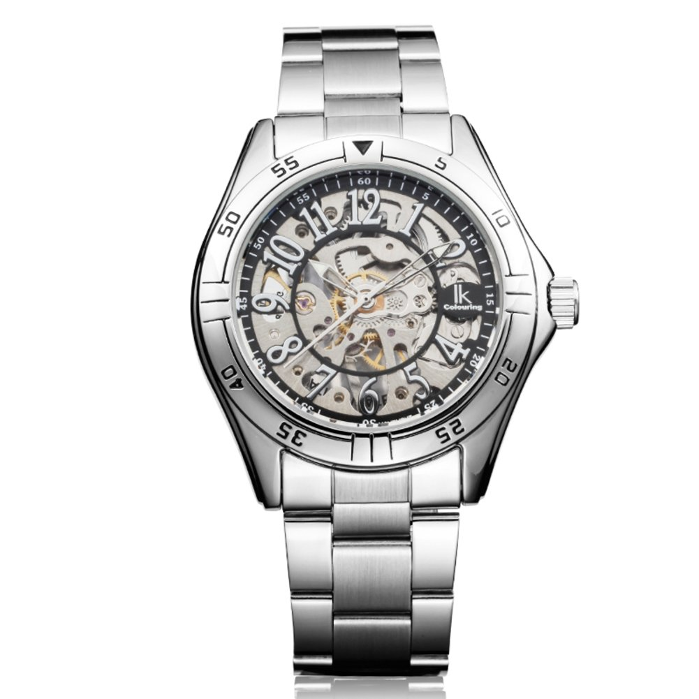 Dos caras de la plantilla manual reloj mecánico/Relojes de los hombres/Reloj casual de los hombres-C: Amazon.es: Relojes
