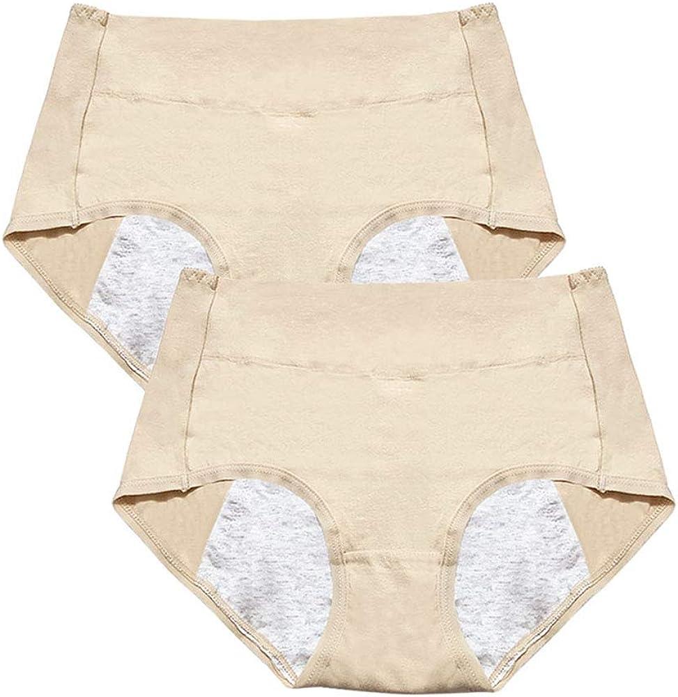 Daytwork Mujer Clásico Algodón Bragas - Niña Grande Ropa Interior Sexy Cintura Alta Sin Costura Braguitas Período Menstrual Culottes Color Sólido Beige 2 Pack Tamaños XL: Amazon.es: Ropa y accesorios