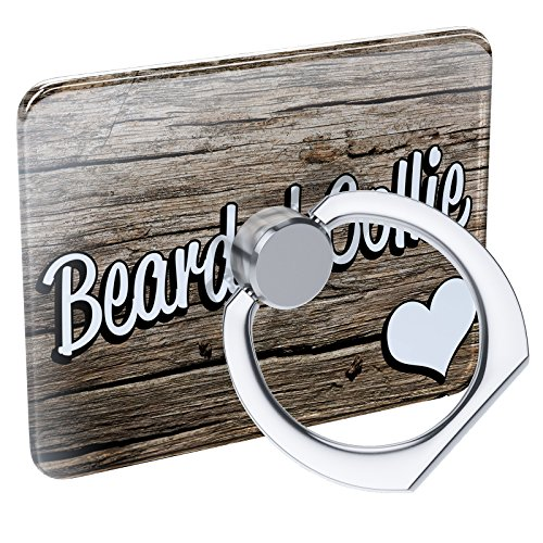 Cell Phone Ring Holder Bearded Collie, Dog Breed Scotland Collapsible Grip & Stand (Bearded Collie Breed)