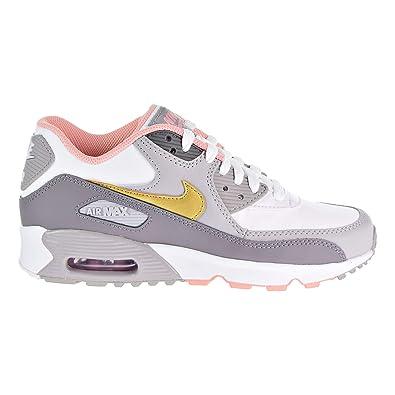4e8681847f6 Nike Youth Air Max 90 LTR GS Leder Trainer: Amazon.de: Schuhe ...