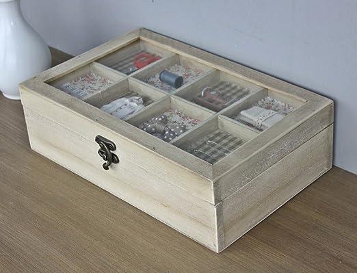 Caja costurero madera marrón de coser caja joyero nuevo diseño ...