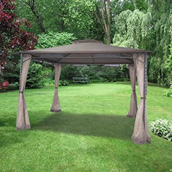 Wind Resistant Gazebo Replacement Canopy & Amazon.com : Wind Resistant Gazebo Replacement Canopy : Garden ...
