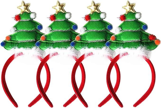 Aniwon 4 Piezas Diadema De Navidad Linda Decoración Del árbol De ...