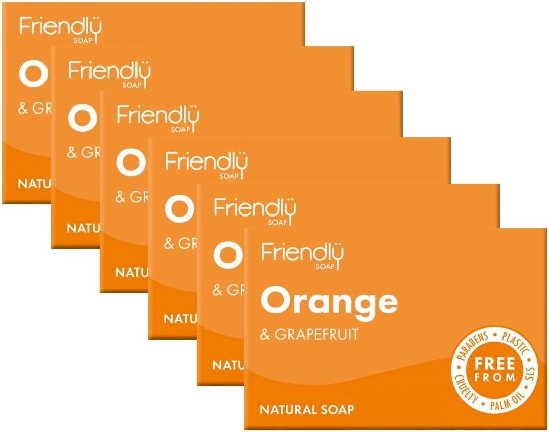 Friendly Soap Orange & Grapefruit (Pack Of 6)