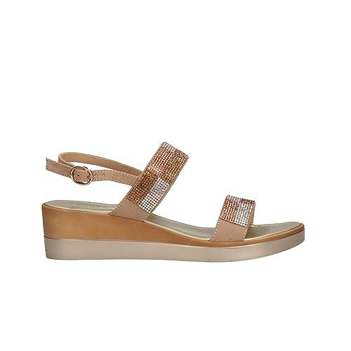 CINZIA SOFT Sandali zeppa beige scarpe donna mod IAD19540