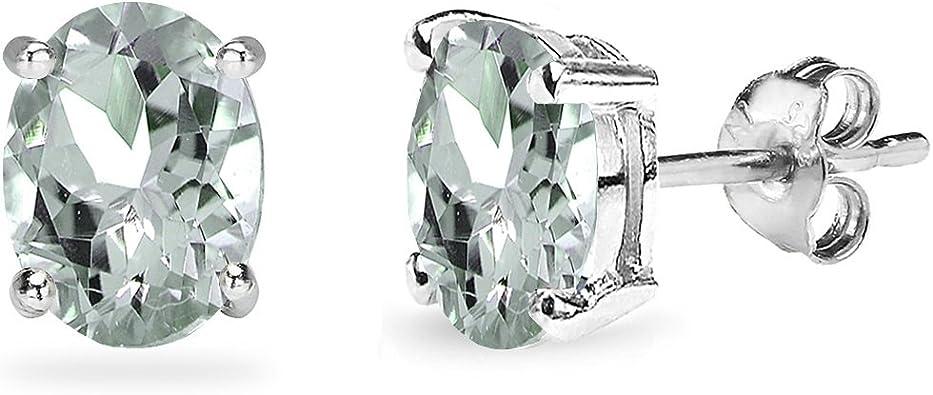 Sterling Silver Rose 6mm Cushion Aquamarine /& Cr White Sapphire Halo Stud Earring