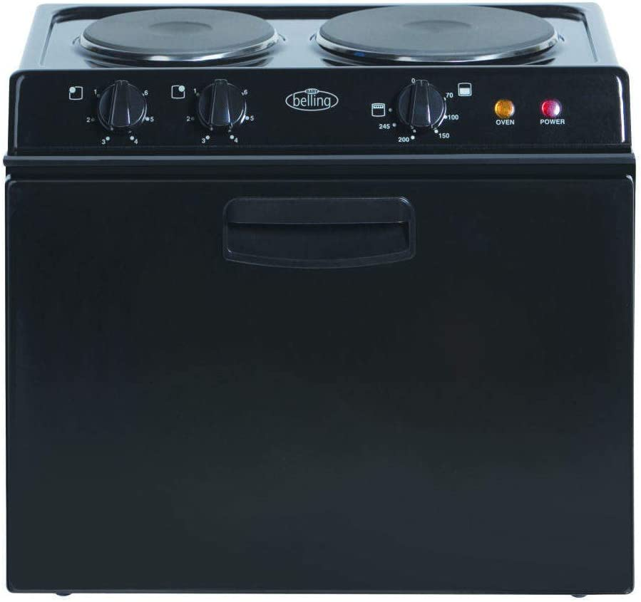 Belling Baby Belling 321r Compact Electric Cooker Black Amazon Co Uk Large Appliances