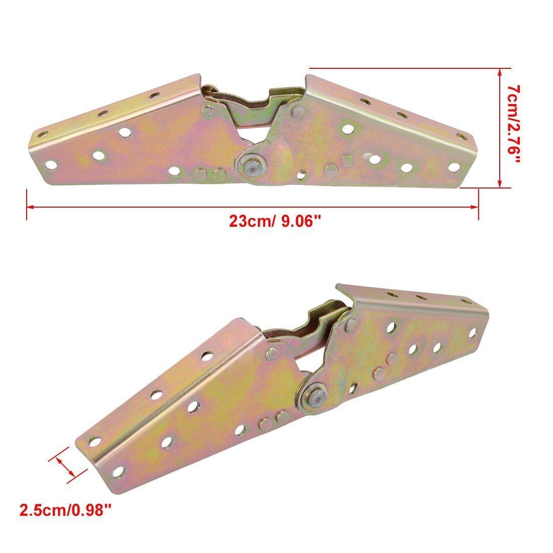 TOOGOO 1 Paar verstellbares Schlafsofa 3-Position Winkelmechanismus Scharnier 230mm Laenge