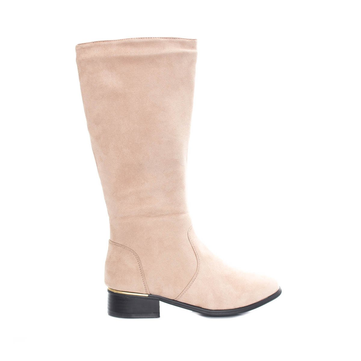 Soho Shoes Women's Knee High Wide Leg Faux Suede Boots