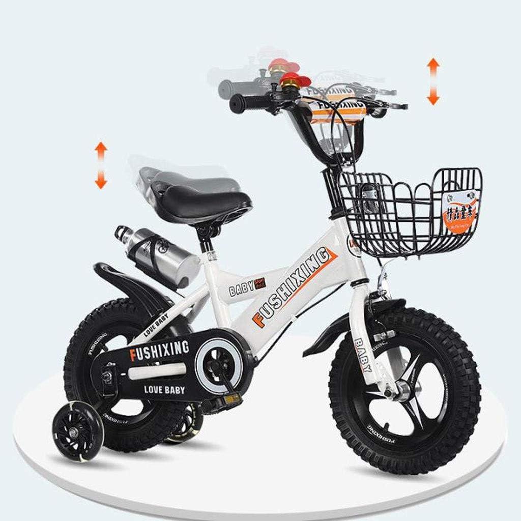 """K-G Bicicleta Infantil Antioxidante Niños Entrenamiento de la Bicicleta Ajustable de Acero de la Bici del niño con el Titular de la Botella de Agua, Durante 2-8 años en tamaño 12"""" 14"""""""