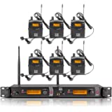 Top Quality!! Xtuga RW2080 In Ear Monitor System 2 Channel 2/4/6/8/10 Bodypack Monitoring with in earphone wireless SR2050 Type! (6 bodypack with transmitter)