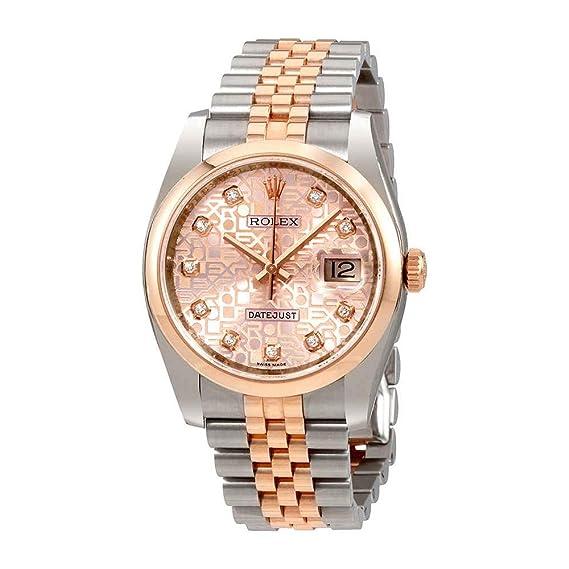 Rolex 116201PJDJJ- Reloj de pulsera para mujer, con esfera de diamante de acero y