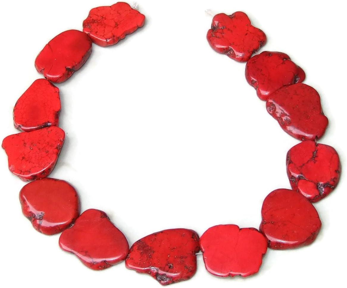 30 mm 3 Pretty Coin Shaped White Howlite Gemstone Beads