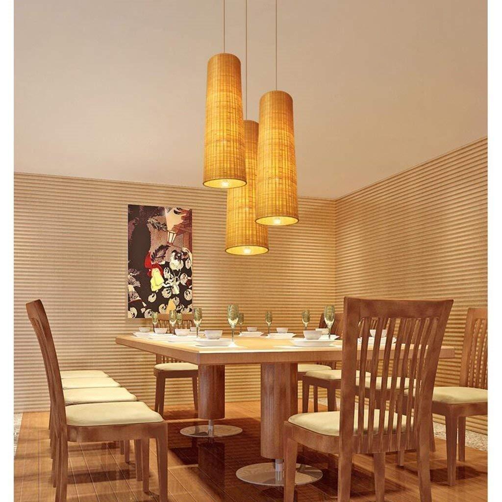 JU Gyy Home Hotel Illuminazione Lampadari Squisiti, Lampada a Sospensione in bambù in Stile Cinese Ristorante Hotel Sud-EST Asiatico Stile Pastorale bambù Illuminazione a Soffitto E27