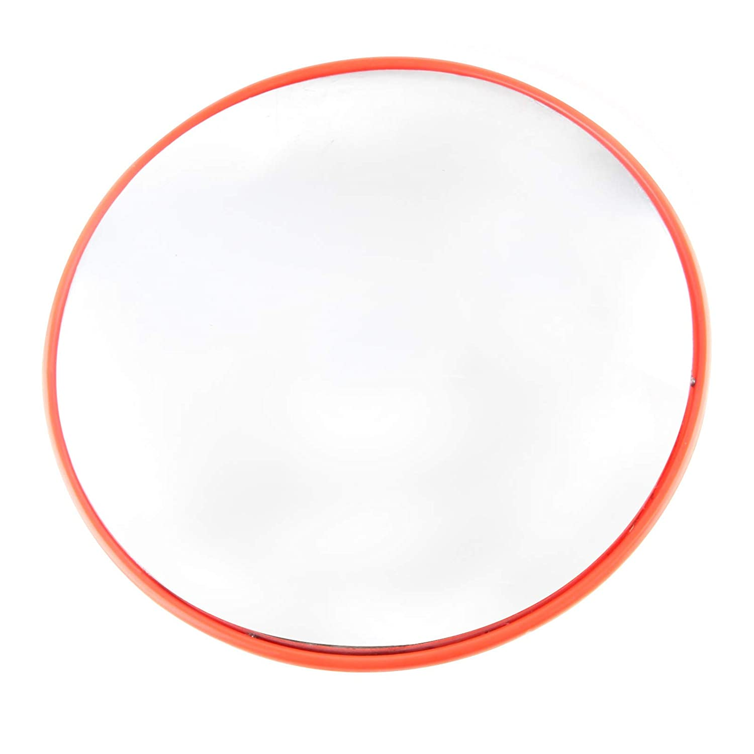 Quieting Wide Angle Security Curved Convex Road Mirror For Driveway Blind Spot Road 30cm Orange