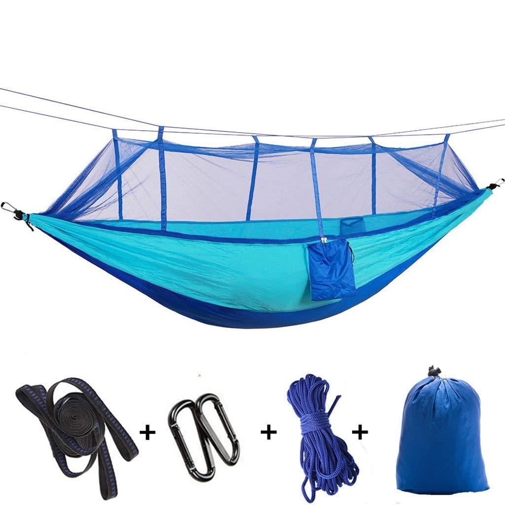 I  CHDIAO Camping en Plein Air avec Apparence De Moustiquaire Grandes Feuilles Suspendues Personnes Double Parachute Moustiquaires Intérieur Camping Swing MultiCouleure en Option (Couleur   E)
