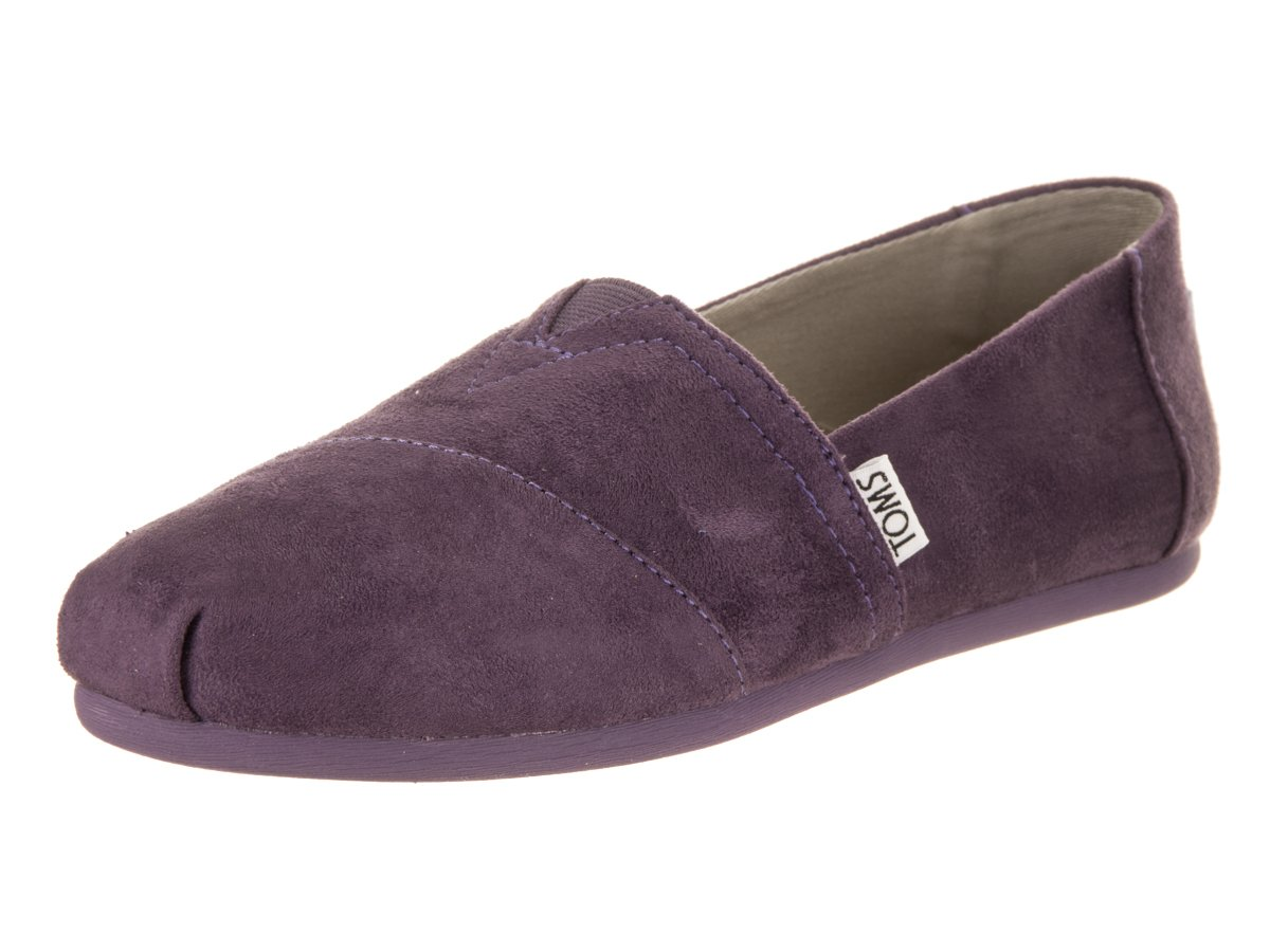 TOMS Women's Classic Black/Plum Casual Shoe (9.5)