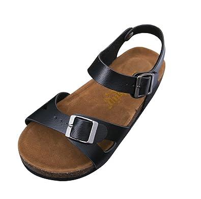 Unisex-Erwachsene Komfort-Sandalen, Sommer Strand Pantoletten Flip Flops Schwarz EU 35 /Label 35
