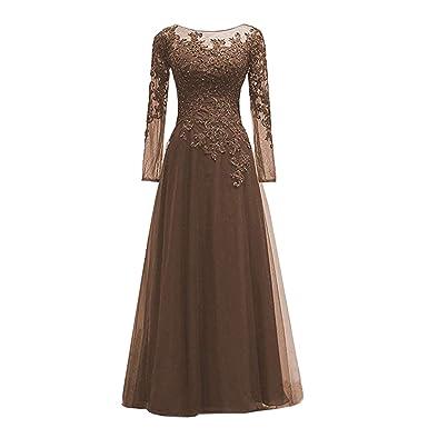 ae1e0a2e010 BridalAffair Women s Appliques Tulle Mother of The Bride Dress Long ...