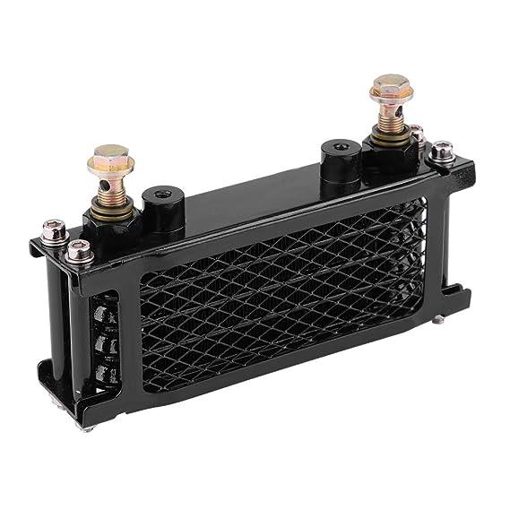 KIMISS Kit de radiador de enfriamiento de aceite Enfriador de aceite del motor de motocicleta para CB CG 100CC-250CC(65ML-negro): Amazon.es: Coche y moto