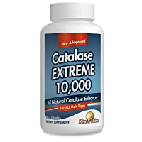 Catalase Extreme 10,000 Catalase Hair Supplement with Catalase, Saw Palmetto, FoTi, Biotin, PABA and More 60 Count