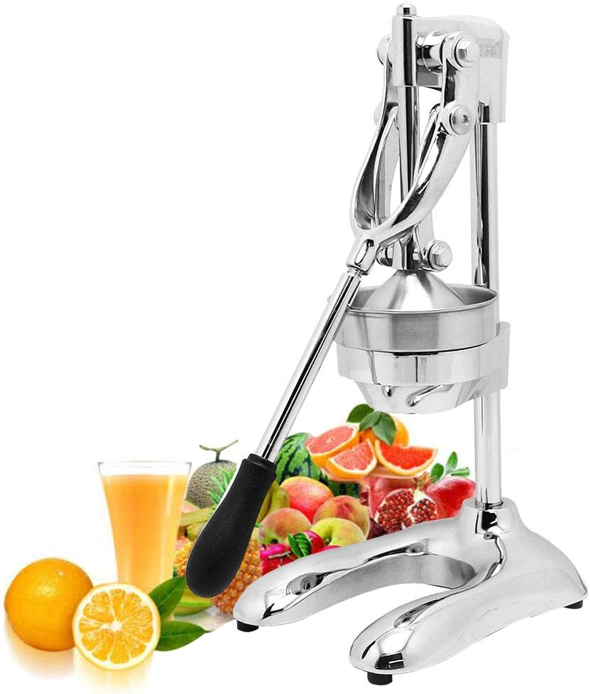 CGOLDENWALL Manual Juicer Stainless Steel Manual Citrus Juicer Hand Orange Juice Squeezer Fruit Squeezer Extractor Press Juicer for Orange Citrus Lemon Pomegranate Grapefruit Juicing