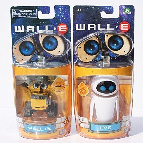 Cartoon Movie Wall E Toy (2pcs/set) Walle Eve Figure Toys Wall-E Robot Figures Dolls by Supertoys