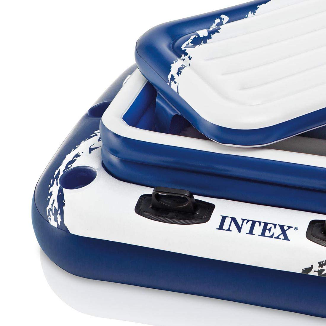 Intex River Run Inflatable Lounge Tube, 4 Pack & Inflatable Cooler Float, 2 Pack by Intex (Image #4)