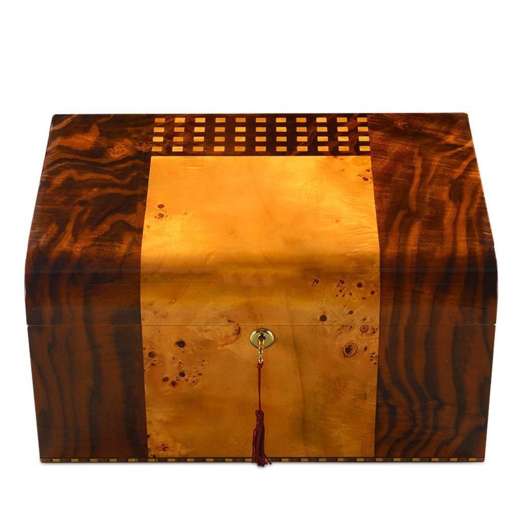 葉巻ヒュミドール シガーボックス - 輸入シガーヒュミドールシダーウッドピアノペイント保湿ボックス多層シガーボックス (色 : Brown) B07NVCYYX4 Brown