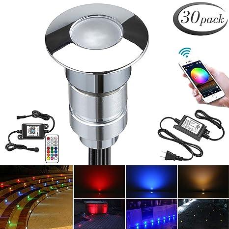 premium selection 8bb36 bb739 Smart Low Voltage LED RGB Lights Kit, FVTLED Pack of 30 Φ0.94
