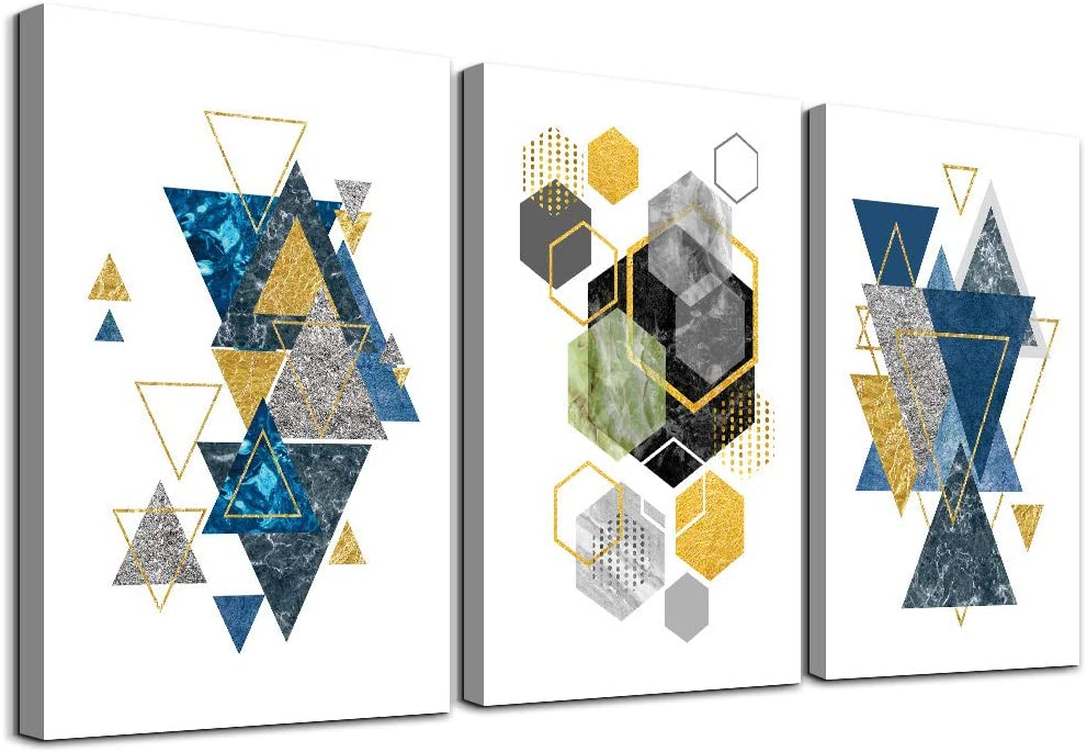 Framed Canvas Wall Art for Living Room family Bedroom Wall decor abstract geometry painting modern kitchen farmhouse bathroom Decoration office abstract Canvas pictures Artwork for home walls 3 piece