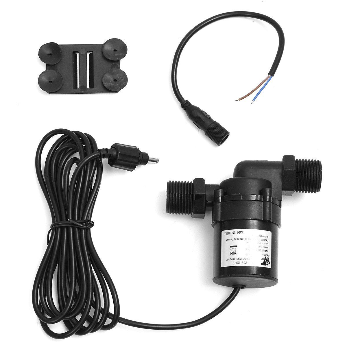 Mini Solar DC 12V-24V 700L/H Hot Water Circulation Brushless Motor Pump Washing