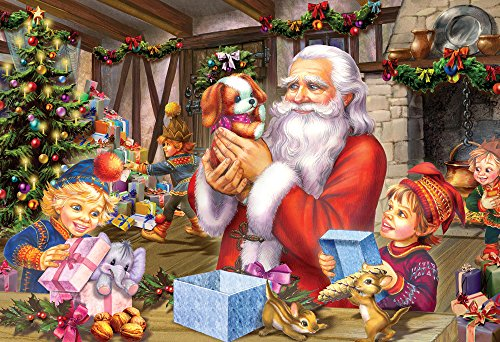 Vermont Christmas Company Santa & Friends Kid's Jigsaw Puzzle 100 Piece by Vermont Christmas Company