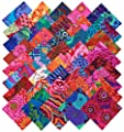 Kaffe Fassett Collective BOLD BRIGHT Precut 5-inch Cotton Fabric Quilting Squares Charm Pack Assortment Westminster Fibers by Kaffe Fassett