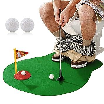 Amazon.com: HuoBi - Juego de inodoro para golf, bebedero de ...