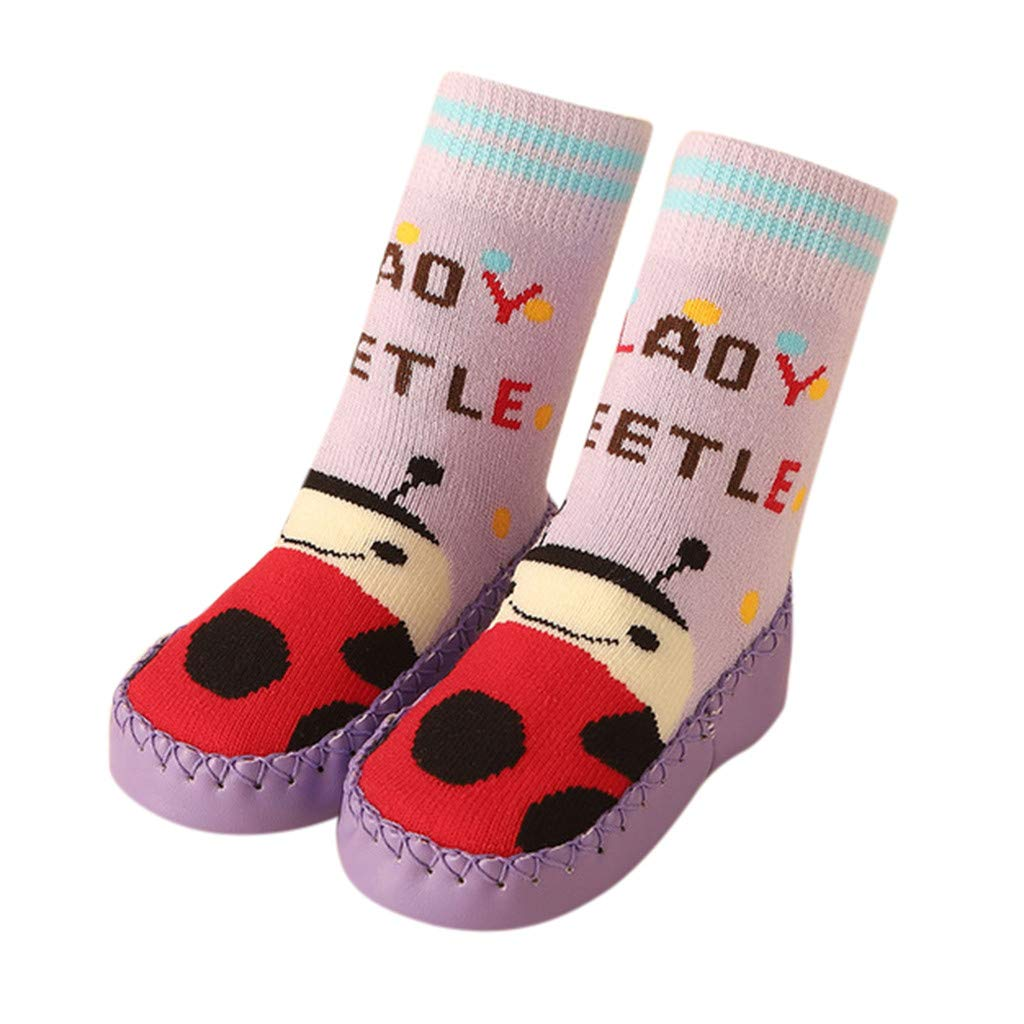 WoCoo Cute Easter Cartoon Toddler Baby Cotton Anti-Slip Slipper Floor Socks Shoes Autumn and Winter walking Indoor Shoes (,32-39 months baby