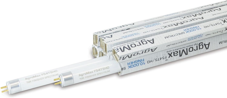 8-Pack AgroMax 4 Foot 45.75 10,000K Finisher T5 Fluorescent Grow Light Bulbs – 8 F54T5HO Bulbs