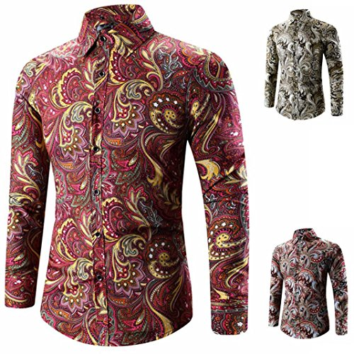 3D Print Shirts,Han Shi Mens Fashion Hawaiian T Shirt Long Sleeve Sports Tees Tank Tops