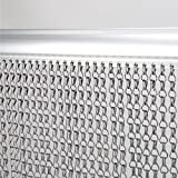 Voilamart Grey Aluminium Chain Link Door Fly Curtain Insect Screen Strip Blind Bug Blind 90x214.5 cm (35.4'x84.4')