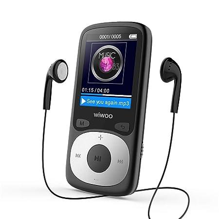 WIWOO 16GB MP3 Player, verlustfreier Sound, Musikplayer für Kinder mit Radio, Sprachaufzeichnung, Bildbetrachter, Unterstützu