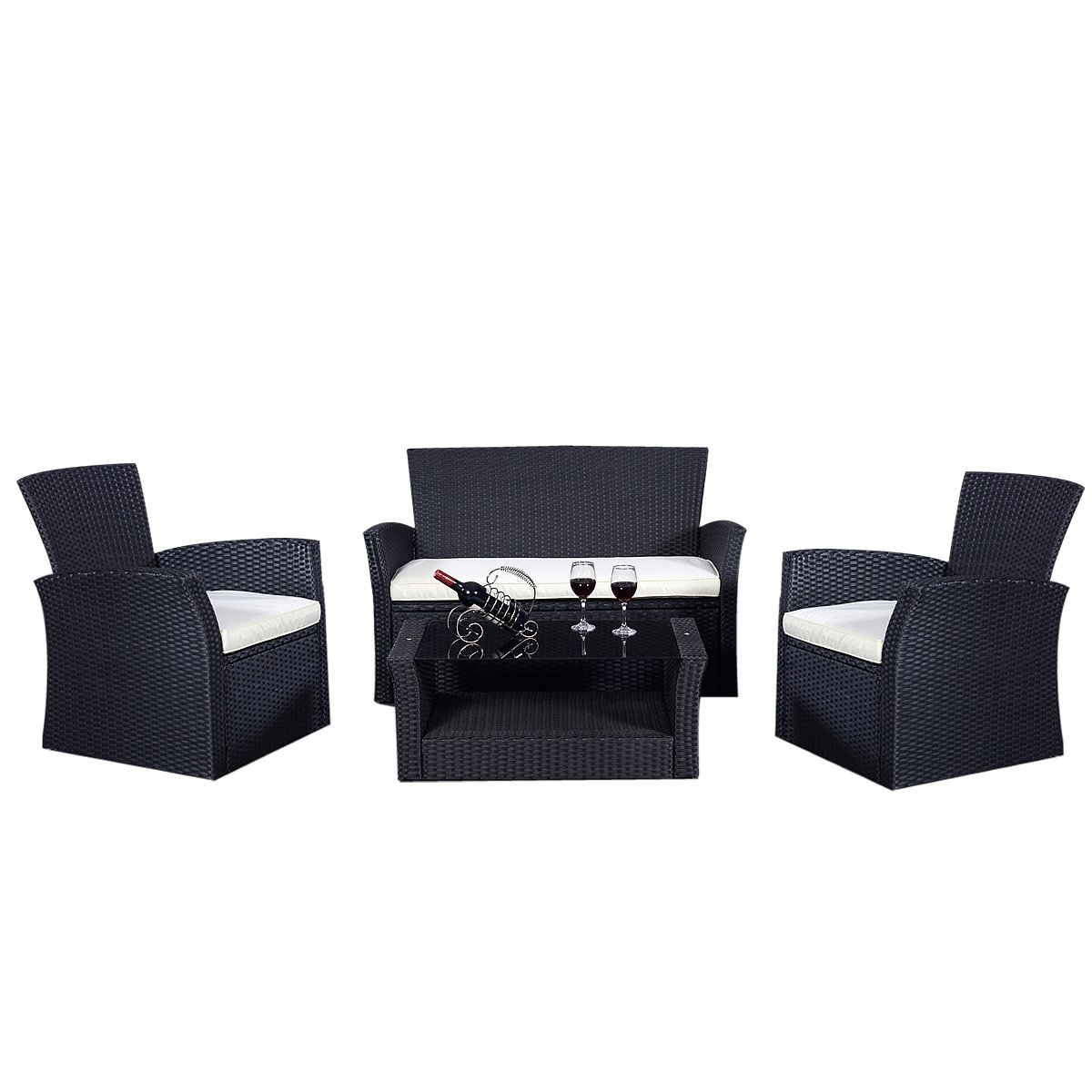gartenm bel rattan lounge set polyrattan sitzgruppe. Black Bedroom Furniture Sets. Home Design Ideas
