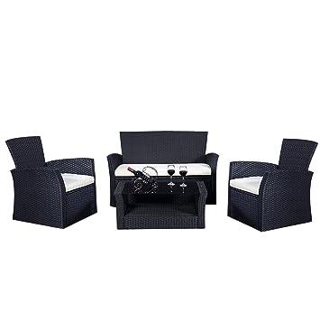Amazonde Gartenmöbel Rattan Lounge Set Polyrattan Sitzgruppe